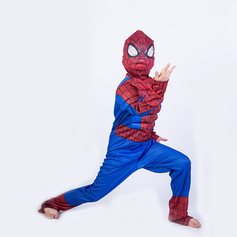 Christmas Muscle super hero superhero avengers spiderman costume cosplay children spider man halloween costumes for kids boys
