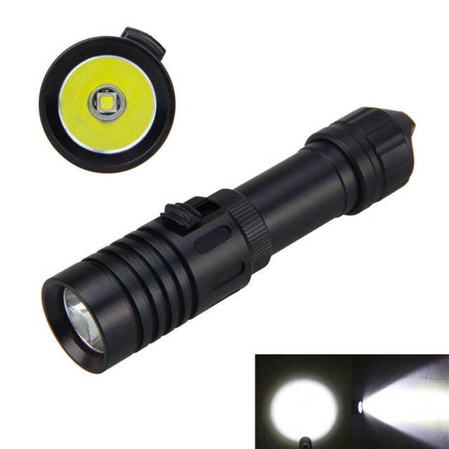 לייזר מצביע LED צלילה לפיד פנס 18650 אור מתחת למים 100 m חזק led פנס עמיד למים #4S10