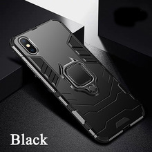 Shock proof Black Panther Phone Case For iPhone XS Max XR X Back Cover 7 plus 8 & Silicone Holder
