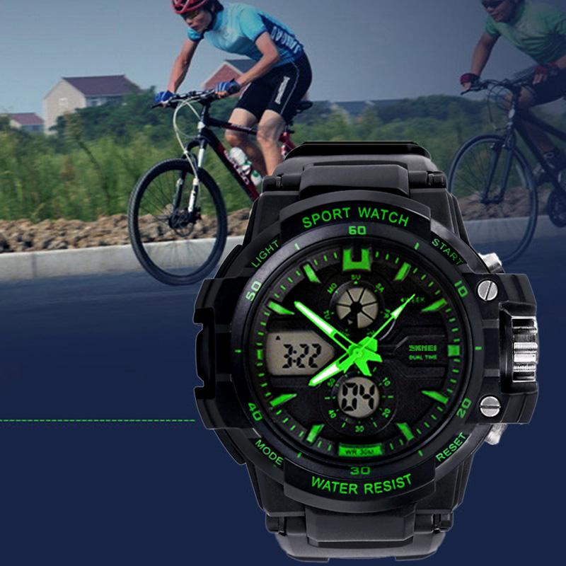 Prix pour Hommes Sport Montres Skmei Marque Military Watch Casual LED Montre Numérique Multifonctions Montres 50 M Étanche Étudiant Horloge