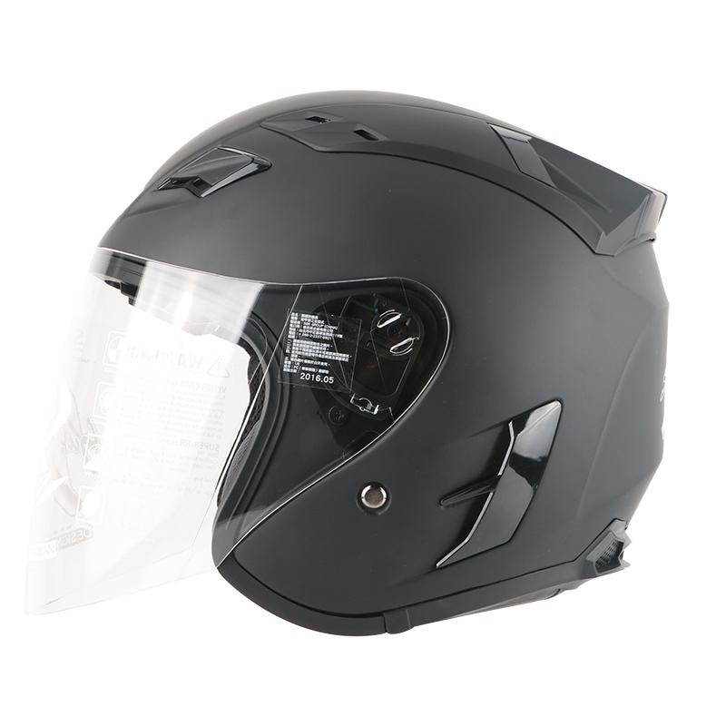 Motorcycle open face helmet electric bicycle 3/4 open face helmet kids woman helmet, fashion visor brand Casco Capacete