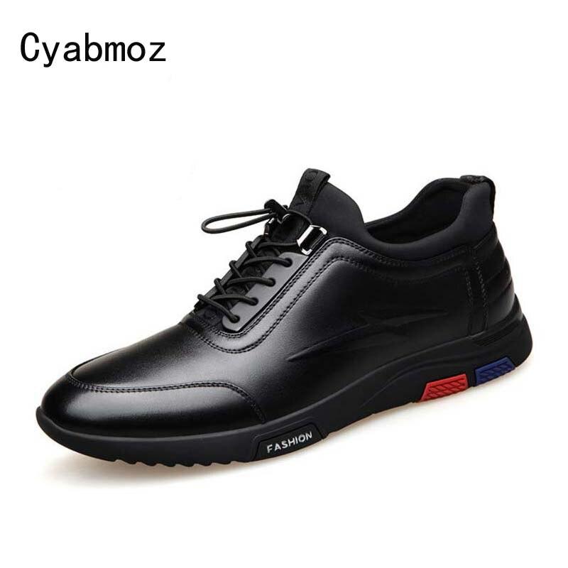 2cf75529 Cyabmoz marca moda altura creciente 6 cm hombres zapatos casuales hombre  Invisible elevador Zapatos Hombre cómodo