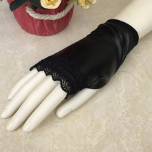 Driving-Gloves Lace Fingerless Sexy Black Girl Short Dance-Costume Disco Party Wholesale