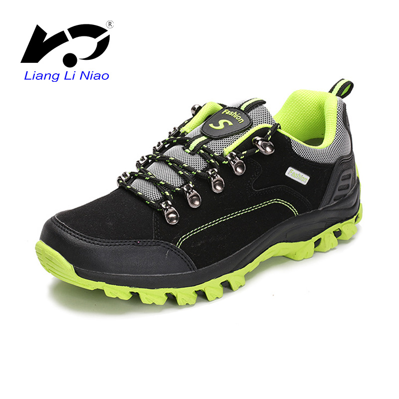 2017 New Outdoor Shoes Men Hiking Boots Breathable Waterproof Cow Suede Camping Shoes Trekking Boots For Women Climbing Sneakers kelme 2016 new children sport running shoes football boots synthetic leather broken nail kids skid wearable shoes breathable 49