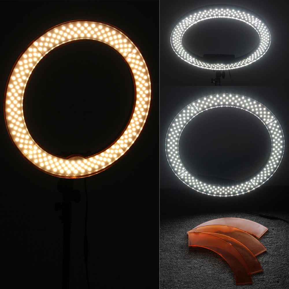 Image 4 - Fotopal Led Ring Light For Video Shoot Camera Phone Lighting With Stand Studio Photography Selfie Makeup Photo Circle Lamp-in Photographic Lighting from Consumer Electronics