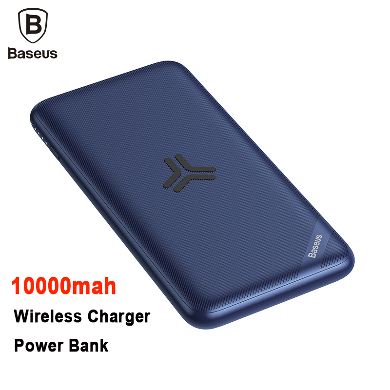 Baseus 10000 Mah Real Capacity Wireless Charger Power Bank Support PD3.0+QC3.0 Fast Charger For IPhone X Samsung Huawei