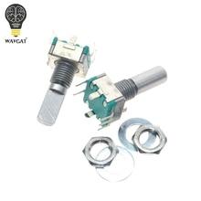10pcs Rotary encoder,code switch EC11 audio digital potentiometer,with switch,5Pin, handle length 20mm WAVGAT