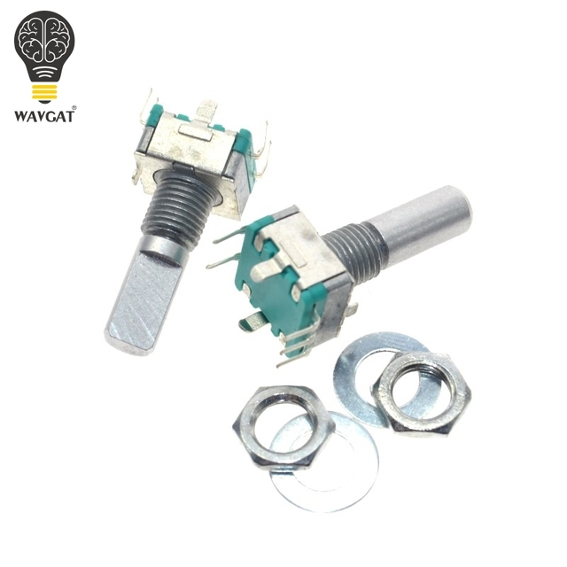 10pcs Rotary encoder,code switch EC11 audio digital potentiometer,with switch,5Pin, handle length 20mm WAVGAT