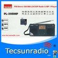 Frete Grátis Tecsun PL398-FM Stereo SW MW LW DSP Rádio & MP 3 Player