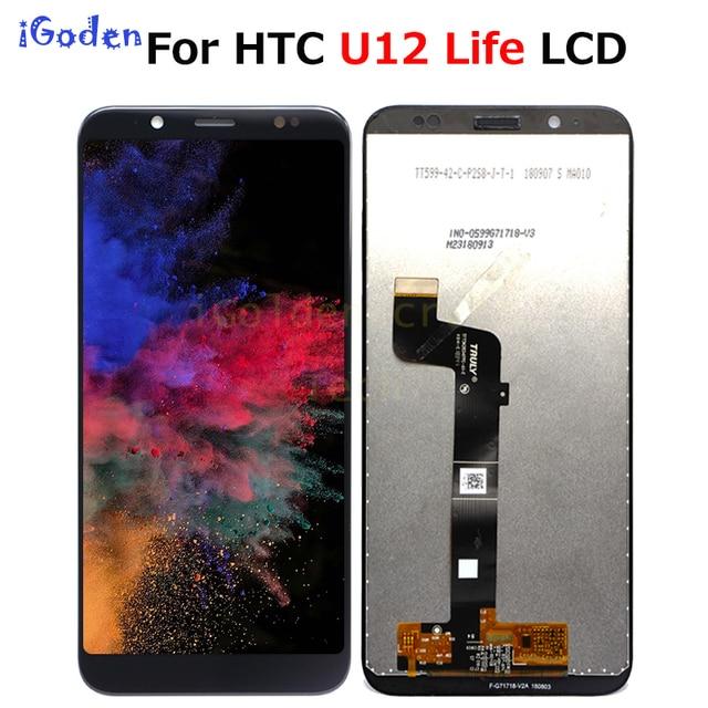 "6.0 ""para htc u12 vida display lcd tela de toque digitador da tela para htc u12 vida display lcd substituição"