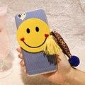 Kisscase casos para iphone 6 6 s plus caso tpu ultra slim amantes bonito 3d emoji sorriso face dos desenhos animados capa para iphone 6 6 s plus cobrir