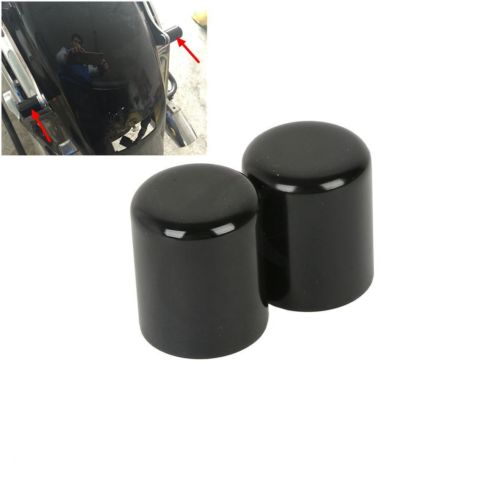 Pair Docking Hardware Point Cover Kit For Harley Road King Street Glide Electra FLHR FLHX FLHT FLTR CVO Sportster Softail Dyna rst 001 bk black aluminum rear seat mounting tab cover for harley sportster dyna softail street glide street bob touring