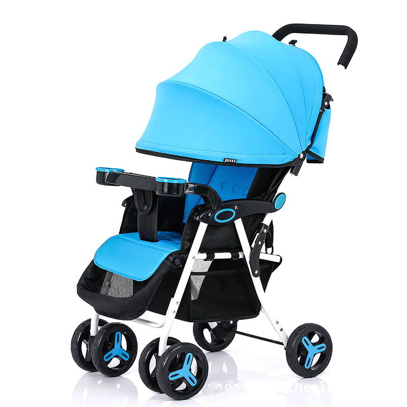 Hot Product Baby Trolley Folding Easy Baby Pram Can Sit Can Lie Super Light Weight Portable Shockproof Safety Baby Stroller
