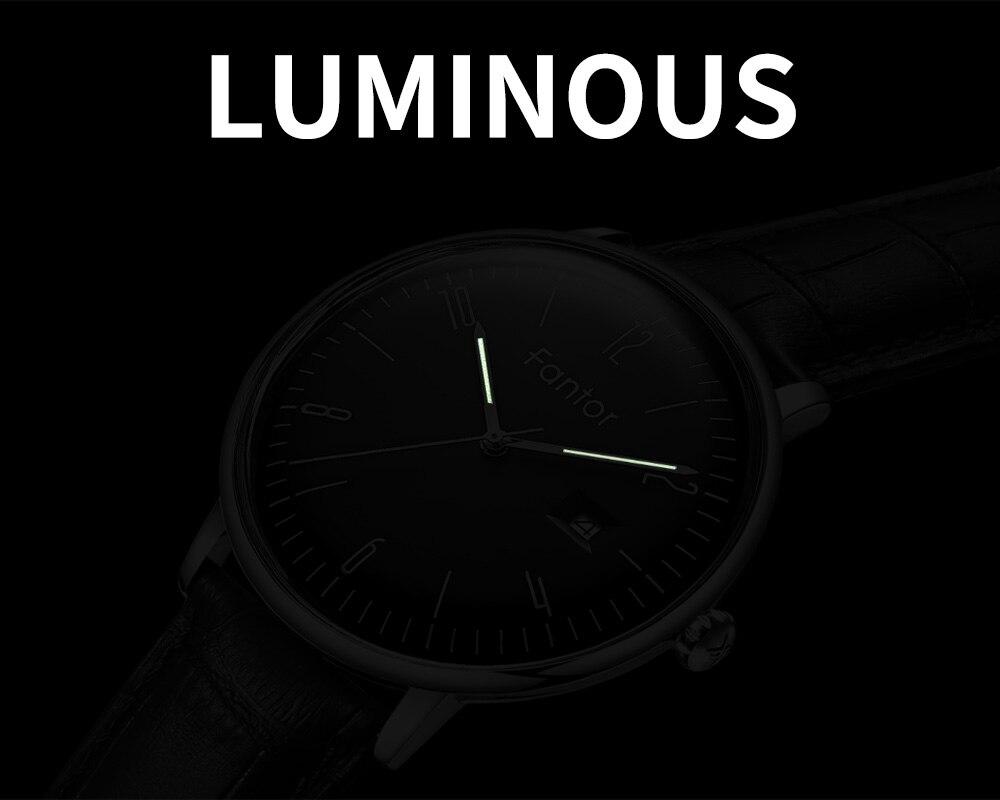 Dos Homens Pulseira de Couro Casual Relógios