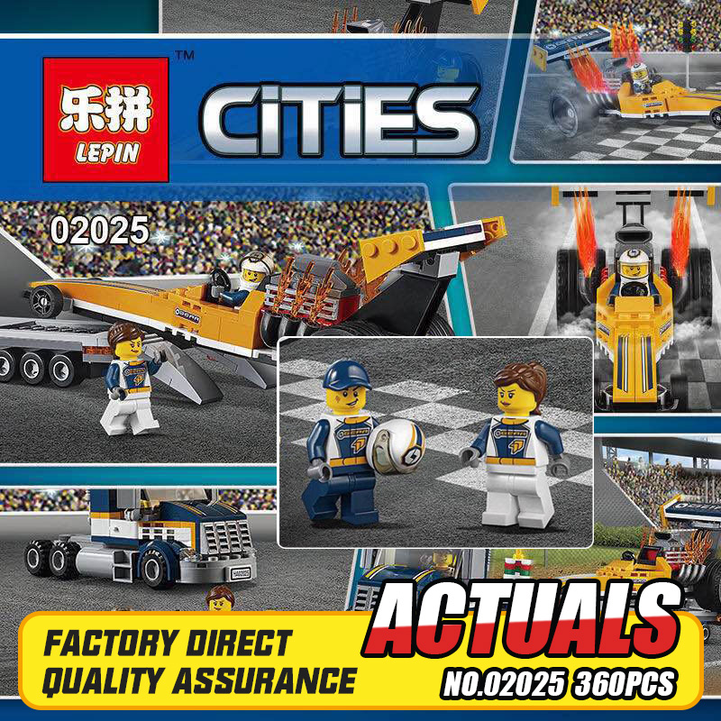 Lepin 02025 360Pcs City Series The High Speed Racer Transporter Set Children Educational Building Blocks Bricks Toys Model 6015 lepin 02025 city the high speed racer transporter 60151 building blocks policeman toys for children compatible with lego