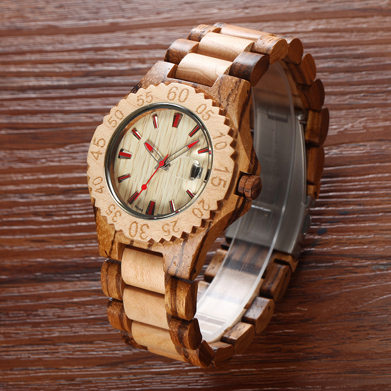 2017 Luxury Brand Men's Natural Wooden Wrist Watch Wood Quartz Watch Hour Clock relogio masculino wood watch luxury brand wood watch women analog natural quartz movement diamond small size wristwatches clock relogio masculino