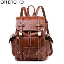 Otherchic женщин Sacs à DOS старинные шнурок из искусственной кожи Sacs d'école подростков Meninas опрятный Рюкзак случайный backbag L-7N07-94