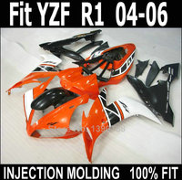 100% fit injection fairings for Yamaha YZF R1 2004 2005 2006 red black white motorcycle fairing kit YZFR1 04 05 06 NV53