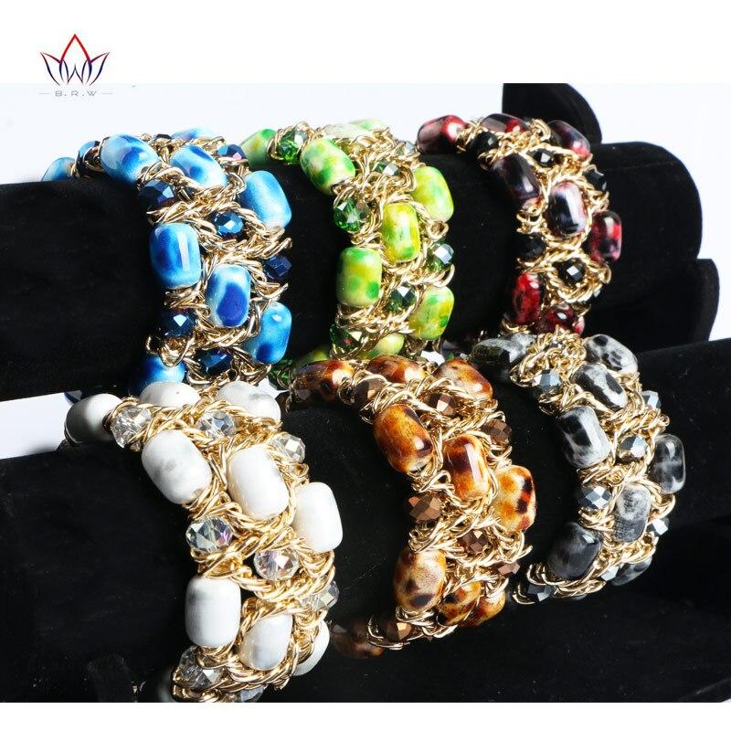 c52d7d6f6b9b 2017 nueva venta caliente 6 colores multilayer borla Cuentas pulseiras  Bohemia pulsera para las mujeres pulseras elásticas wya163
