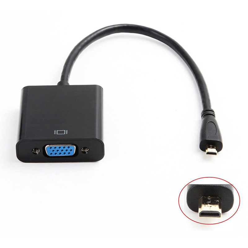 Micro HDMI Input to VGA Output Mini HDMI Male Adapter to VGA Female Converter Cable For PS3 PS4 XBOX 360 TV HDTV Andorid TV Box(China (Mainland))