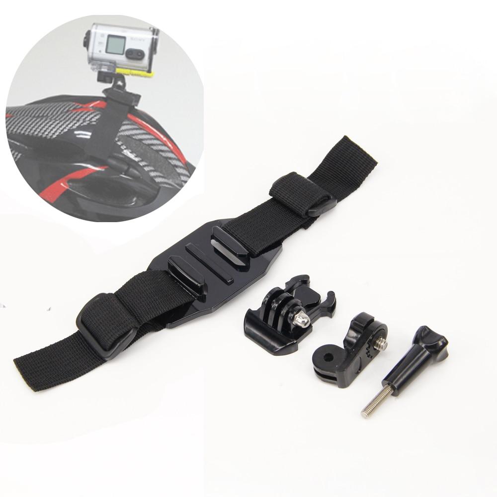 4in1 1set Helmet Strap Mount Kit for Quick Release Buckle/ Helmet strap for Sony Action Cam HDR-AS100V AS30V AS200V FDR-X1000V