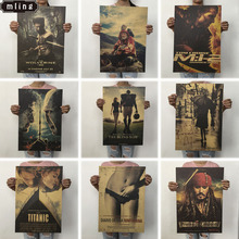 OLOEY 1PC 51.5x36cm Retro Movie Poster Kraft Paper Posters Classic Bar Home Decoration Painting Wall Sticker
