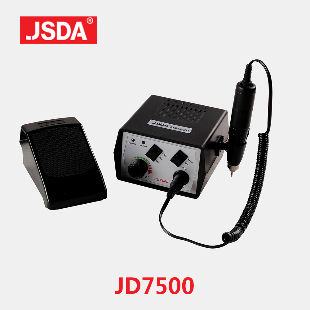 Real JSDA JD7500 35000rpm Professional Manicure Pedicure Machine Electric Nail Drills Dental Denture Tools Nails Art Equipment