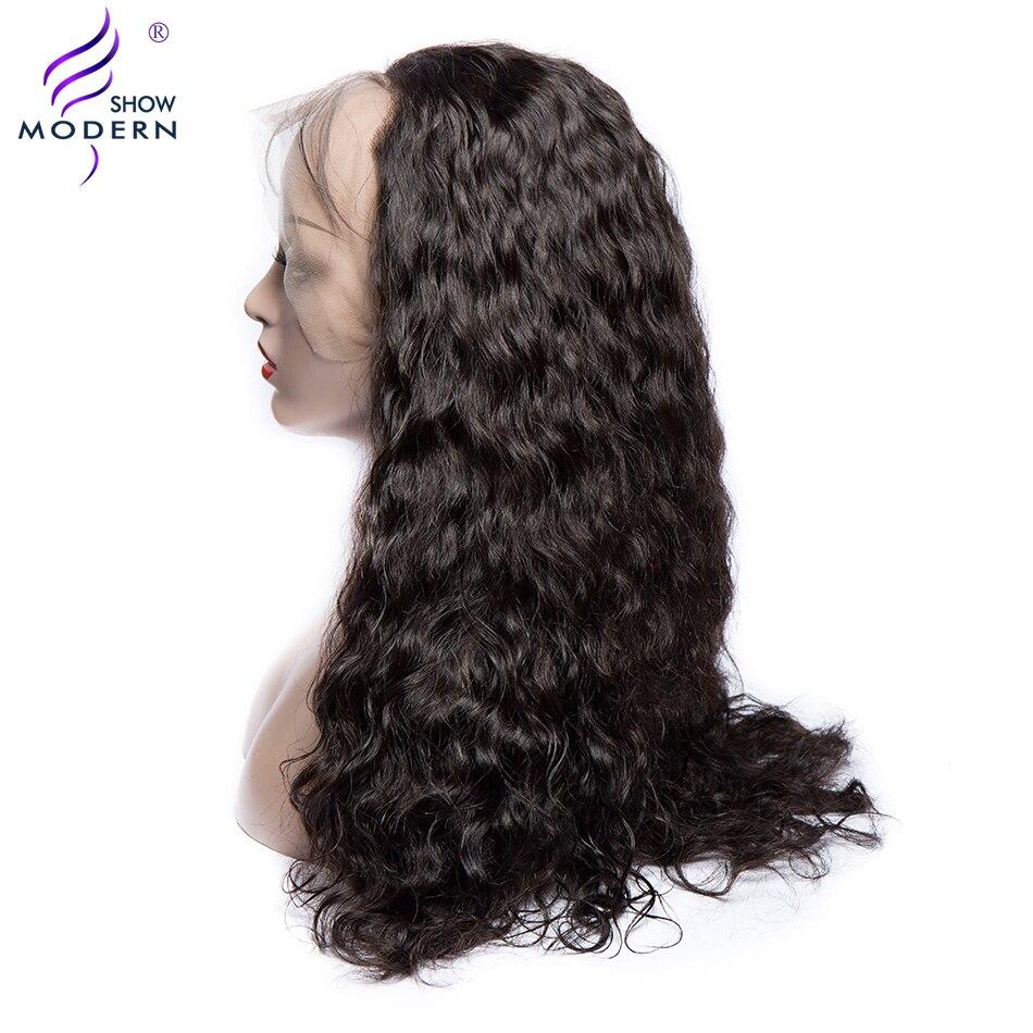 Современный шоу волос 360 Кружева Фронтальная человеческих волос парики для женщин перуанский волна воды парик Реми волос предварительно со
