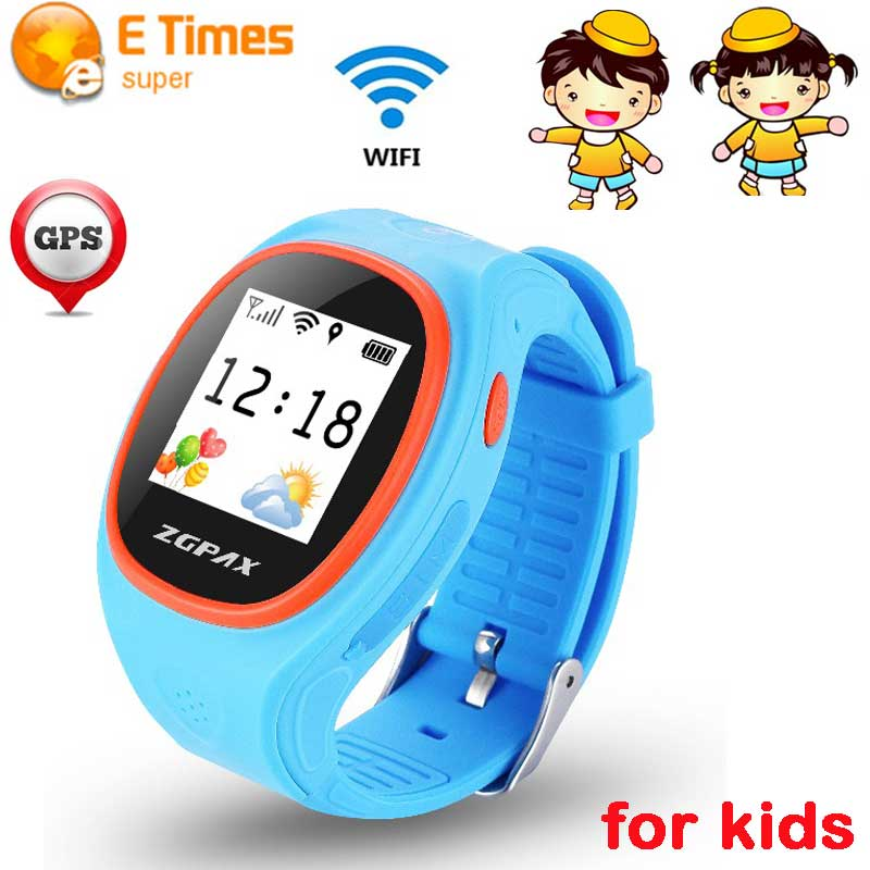 ZGPAX S866 Kids Smart Watch GPS+LBS+WIFI Bluetooth Smartwatch Quick dial  family phone numbers for Android IOS Wearable Devices-in Smart Watches from