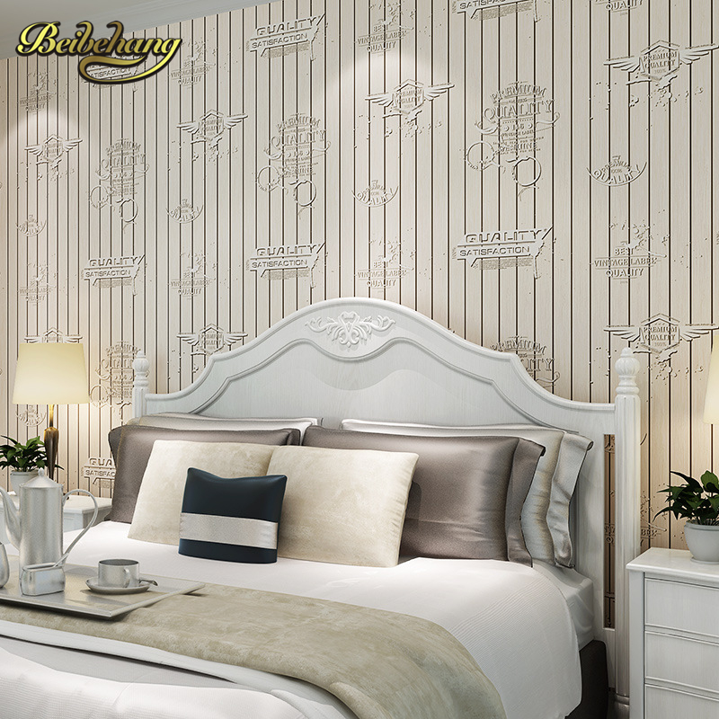 beibehang papel de parede Mediterranean style blue imitation wood Non-woven living room bedroom wallpaper background  wall paper beibehang papel de parede retro classic apple tree bird wallpaper bedroom living room background non woven pastoral wall paper