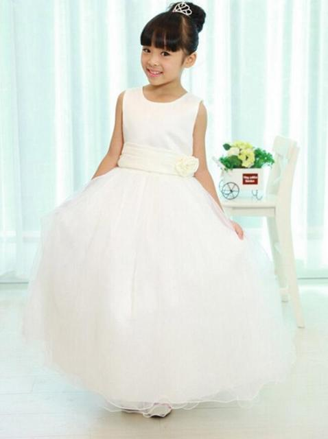 2016 new girl chiffon childrens dress kids summer clothes cute girls wedding children girl princess dress white evening dresses