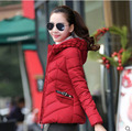 M/2Xl Женщин Короткий Зимний Хлопок Проложенный Куртка Casaco Feminino Теплый 4 Цвета Лоскутное С Капюшоном Парки Толстые Пальто И Пиджаки S2511
