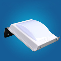 Siêu sáng led năng lượng mặt trời đèn tường ngoài trời điều khiển Giọng Nói nhẹ tường năng lượng mặt trời đèn chống thấm IP65