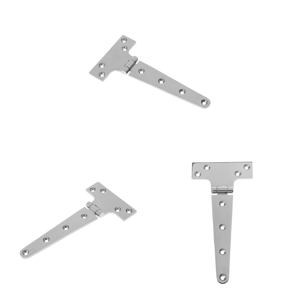 3 Pieces Marine 316 Stainless Steel Door Gate T Tee Hinge Strap Heavy Duty Boat Deck
