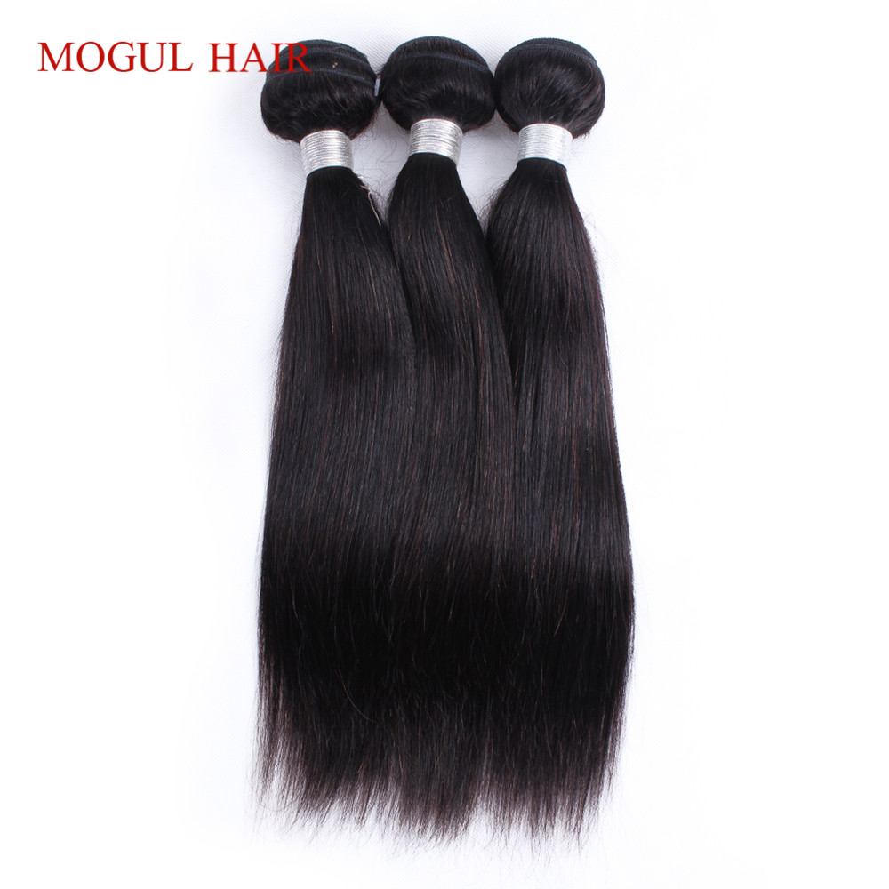 Mogul hair Indian Straight Human Hair Weave Bundles 2/3 Bundles Natural Color Non Remy Human Hair Extensions Free Shipping
