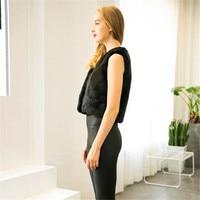 2017 Female Vest Casual Women Fashion Sleeveless Coat Long Hair Faux Fur Solid Color Jacket