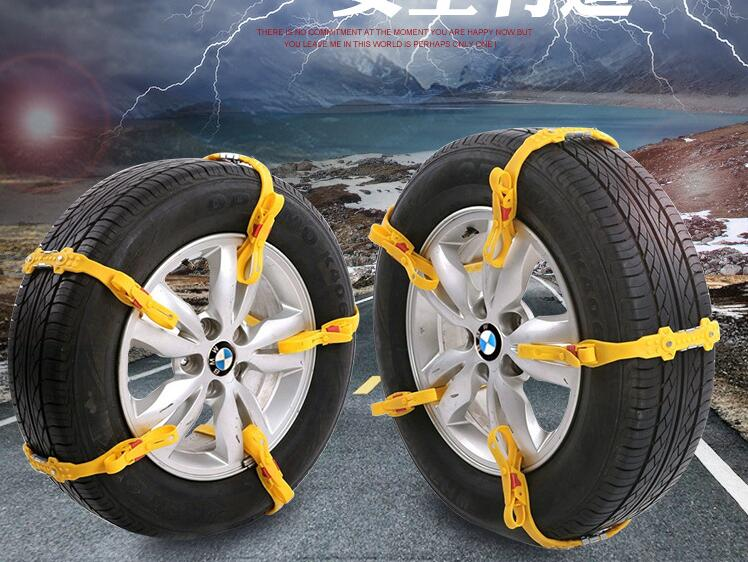 5Pcs/Lot Universal TPU Snow Chains Suit 145-285mm Tyre Roadway Safety Tire Chains Snow Climbing Mud Ground Anti Slip