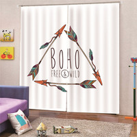 3D Digital Print Arrow Blackout Window Drapes Luxury Curtains For Living room Bed room Office Hotel Home Wall Tapestry Apr4