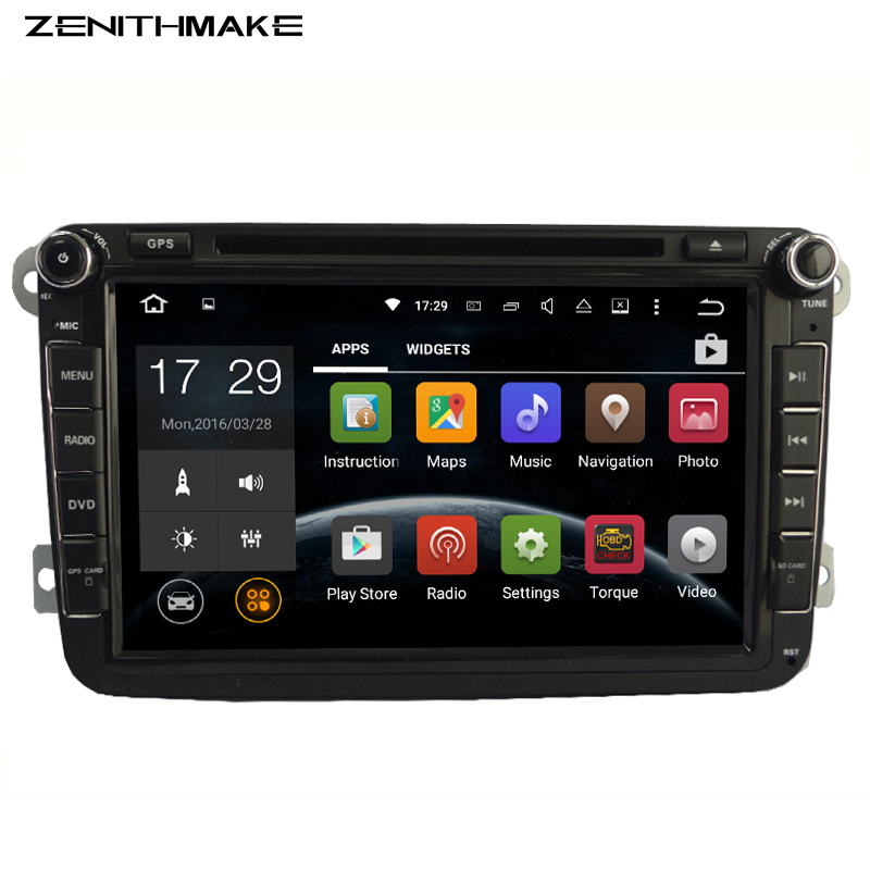 FREE SHIPPING font b Android b font 2Din Car DVD Player for VW Golf mk6 5