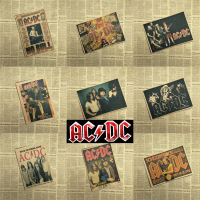Vintage Poster ACDC Kraft retro retro old rock and roll old poster Euro American music team
