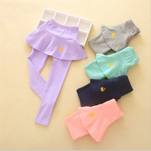 2017 New Arrival Girls Casual Clothes Spring Leggings Skirt-pants Kids Crown Cake Skirts 5 Colors Toddler Leggings Free Shipping