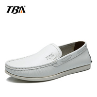2017 TBA 5888# Men's Sports Skateboarding shoes White/black Genuine Leather Wear Non slip Outdoor Sport Shoes Traning Sneakers