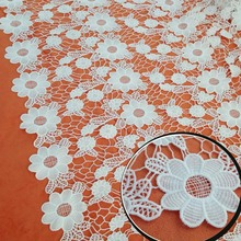 Superior 1Yard 91*126cm,White African French Guipure Swiss Lace Fabric,Apparel  Sewing Dress Blouse Skirt Accessories Table Cloth Material