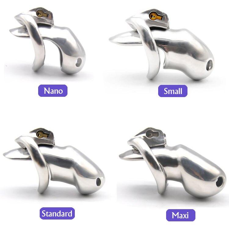 Pour Big Dick 2019 nouveauté belle conception 316 en acier inoxydable HT V3 à la main dispositif de chasteté coq pénis anneau jouets sexuels pour adultes