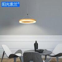 Moderne LED 12 W Houten verf Ring kroonluchter voor eetkamer slaapkamer bar tafel studeerkamer kantoor AC90V-260V plafond kroonluchter
