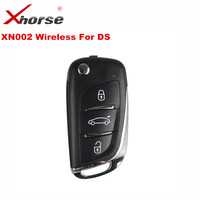 1 PCS XHORSE VVDI2 For DS Type Wireless Universal Remote Key 3 Buttons XHORSE XN002 Remote