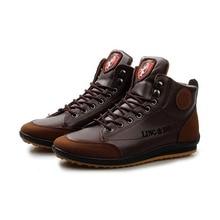 Los Hombres ocasionales Del Otoño Hombres de la Marca de Zapatos de Cuero de Los Hombres de Moda Al Aire Libre Calzado Casual Para Hombres P9c13