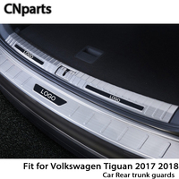 CNparts For Volkswagen VW Tiguan 2 MK2 2017 2018 Auto Car Rear Trunk Door Bumper Anti Scratch Strips Accessories