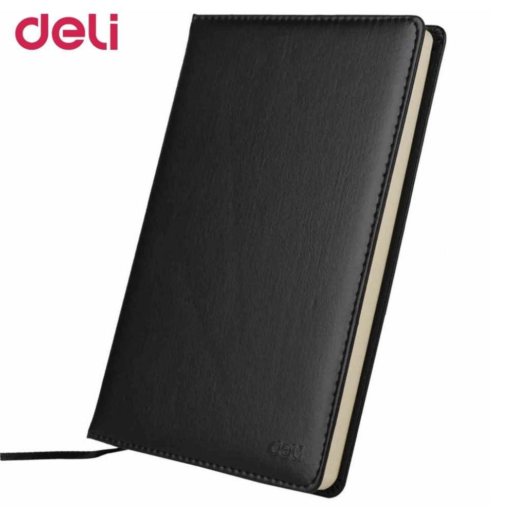 Deli 3162 Upgrade 98 Sheets Stationery Pocketbook 25K Notebook Business Office Daily Memos Records PU Cover Copybook adriatica 3162 1241qz