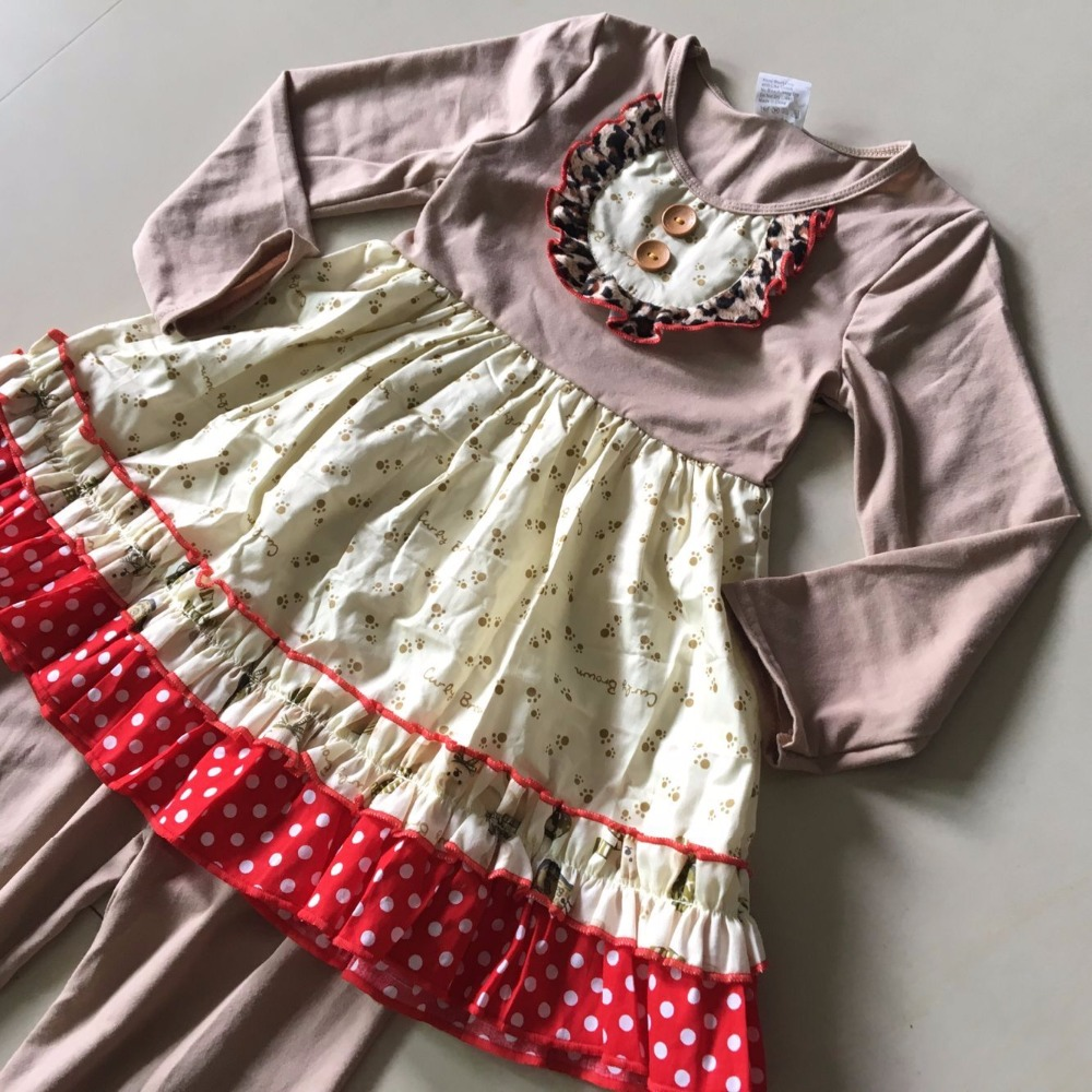 New Grey Red Long Sleeve Cute Style Spring And Autumn 100% Cotton With Same Color Pants for Baby Girls Sets and Baby's Present